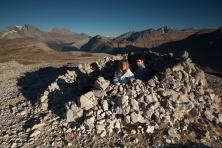 Windschutz am Ende des Parker-Ridge Trails