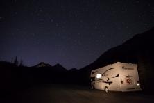 Unser Camper beim Nachtshooting