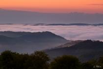 Blick auf das Wolkenmeer im Tal