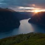 Aurlandsfjord im Sonnenuntergang 2